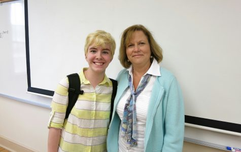 Mrs. Clubb and Kayla Fender ('17) facilitated a discussion after One Love with a group of Mrs. Clubb's English periods.