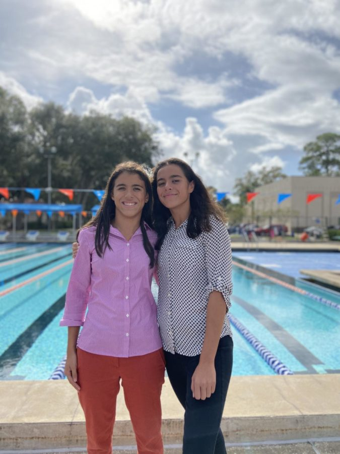 Left to Right: Dalia and Yasmeen by the Lobrano Pool. Photo Credit: Howard