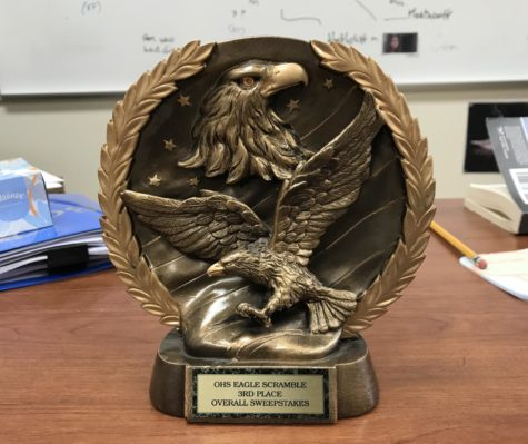 Debate Team trophy from  the Eagle Scramble. Photo credit: Dickson