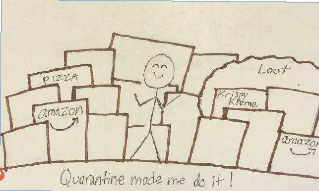 Brill shows off her drawing skills picked up in quarantine.