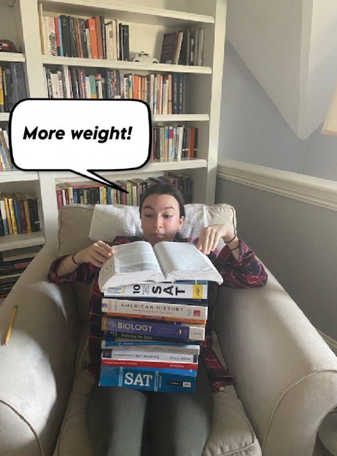 """As Giles Corey from The Crucible once said, """"More weight."""" Many juniors feel that each AP or honors class they take adds more and more pressure to their chests. More weight is added to juniors as they begin to start taking standardized tests such as the SAT and ACT. While students already know the pressure their classes apply on them, they still sign themselves up for copius amount of extracurriculars."""