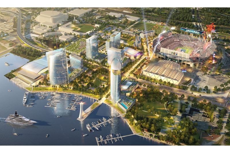 A visual rendering of the proposed Lot J development in Jacksonville.