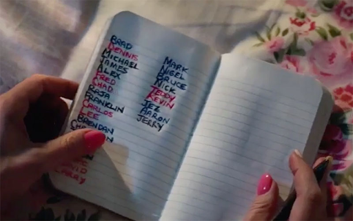 "A notebook containing the names of all the men who attempted to take advantage of the ""drunk"" woman."