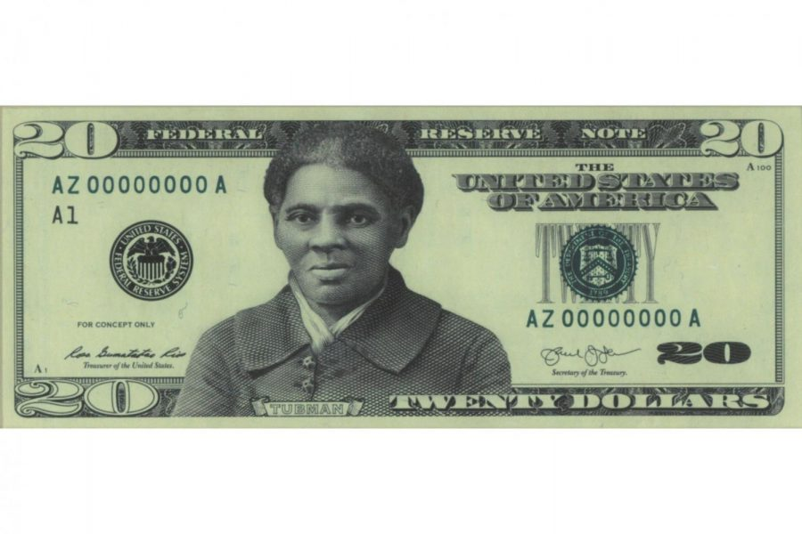 Proposed look of the $20 bill with Harriet Tubman replacing Andrew Jackson.