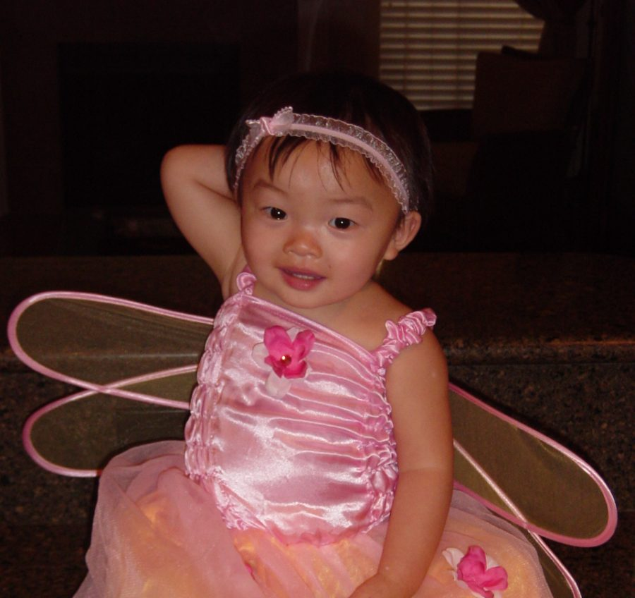 This was my first Halloween, and I dressed as a fairy.