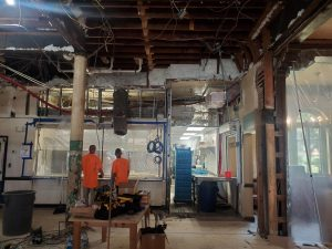 The cafeteria, in particular, underwent a drastic renovation over the summer.